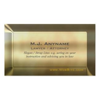 Ouro-efeito do luxo do advogado/advogado cartão de visita