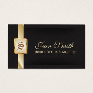 Ouro elegante & cartão de visita móvel preto da