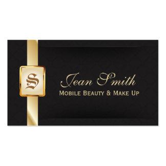 Ouro elegante & cartão de visita móvel preto da be