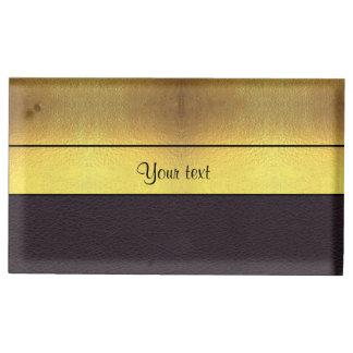 Ouro elegante & preto suporte para cartões de mesas
