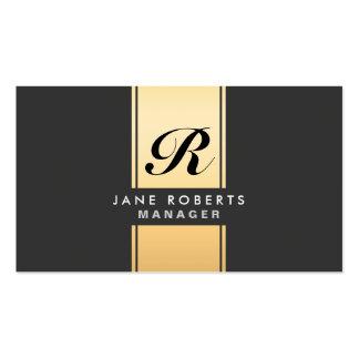 Ouro elegante profissional do Cosmetologist do mon Modelos Cartoes De Visita