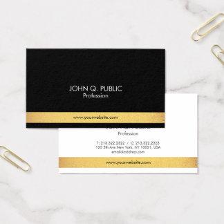 Ouro elegante profissional moderno preto e branco cartão de visitas