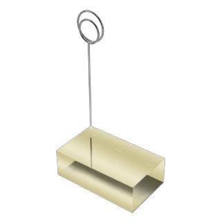 Ouro elegante suporte para cartão de mesa