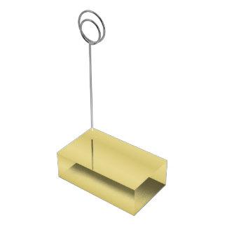 Ouro elegante suportes para cartoes de mesa