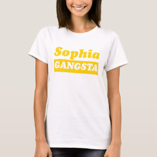 Ouro engraçado de Sophia Gangsta Camiseta