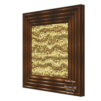 ouro estrangeiro da pele impressão em tela