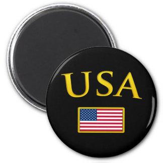 Ouro EUA Ímã Redondo 5.08cm