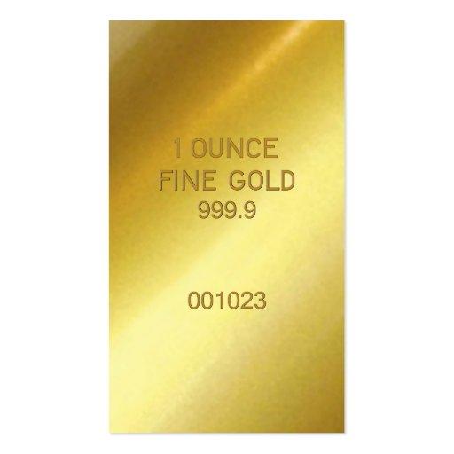 Ouro fino de 1 onça modelos cartões de visita
