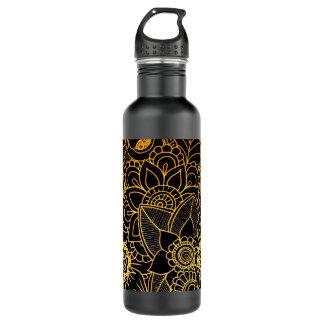 Ouro floral G523 do Doodle da garrafa