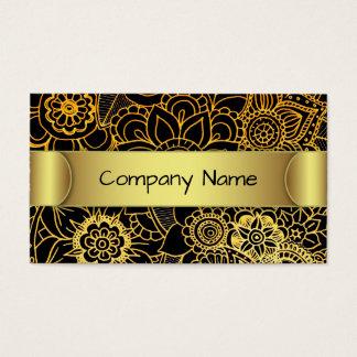 Ouro floral G523 do Doodle do cartão de visita