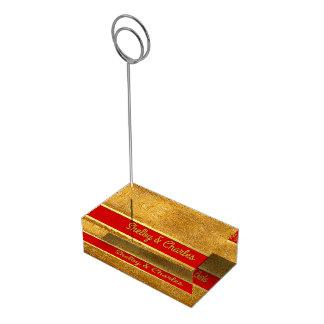 Ouro Glam e titular do cartão feito sob encomenda Suportes Para Cartoes De Mesa