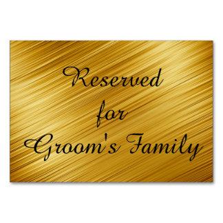 Ouro gráfico reservado cartão