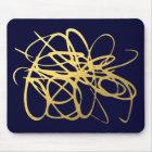 Ouro lindo Mousepad do marinho para seu escritório