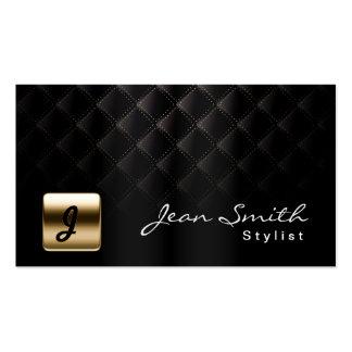 Ouro luxuoso cartão de visita preto do estilista