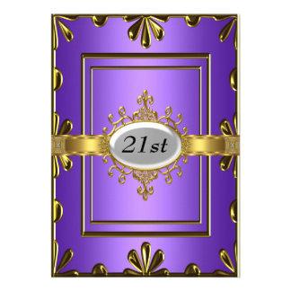 Ouro malva do convite de aniversário