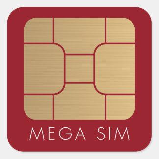 Ouro mega do falso do formato do cartão esperto de adesivo quadrado