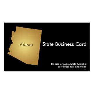 Ouro metálico do cartão de visita do estado da