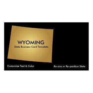 Ouro metálico do cartão de visita do estado de