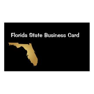 Ouro metálico do cartão de visita do estado de Flo