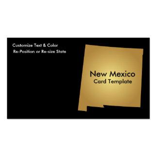 Ouro metálico do cartão de visita do estado de New