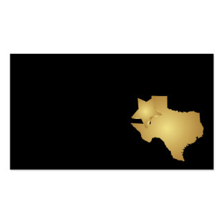 Ouro metálico do cartão de visita do estado de Tex