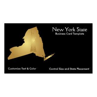 Ouro metálico do cartão de visita dos Estados de