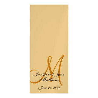 Ouro metálico do monograma do programa da igreja d convites