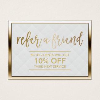 Ouro moderno do cartão | da referência quadro