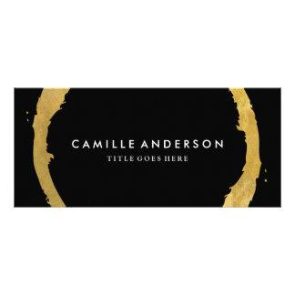 Ouro moderno e à moda e certificado de presente 10.16 x 22.86cm panfleto