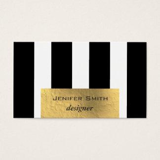 Ouro moderno elegante profissional do falso das cartão de visitas