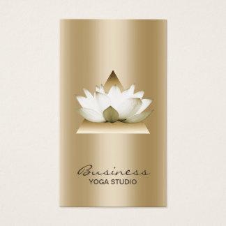 Ouro moderno Lotus do estúdio da ioga elegante Cartão De Visitas