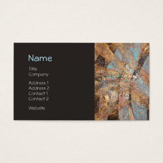 Ouro moderno perfil incorporado gravado do cartão de visitas