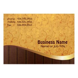 Ouro-n-Brown Modelo Cartões De Visita