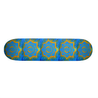 ouro no símbolo tantric azul shape de skate 20cm