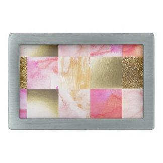 ouro, pastels, cores de água, quadrados, colagem,