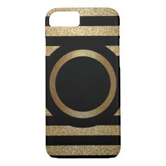 Ouro personalizado & capa de telefone preta