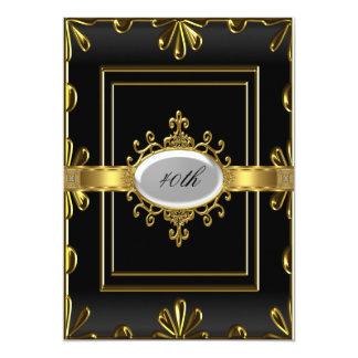 Ouro preto do convite de aniversário