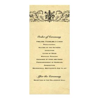 Ouro preto do programa do casamento de Fleur 10.16 X 22.86cm Panfleto
