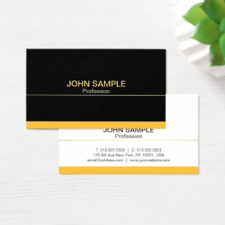 Ouro preto profissional moderno liso elegante cartão de visitas
