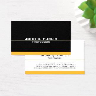 Ouro preto profissional moderno liso simples cartão de visitas