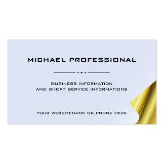 Ouro profissional moderno do cartão de visita 10,