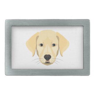 Ouro Retriver do filhote de cachorro da ilustração