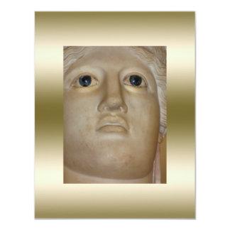 Ouro romano da deusa da estátua antiga das belas convite 10.79 x 13.97cm