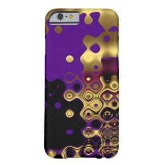 ouro roxo abstrato do caso do iPhone 6 Capa Barely There Para iPhone 6