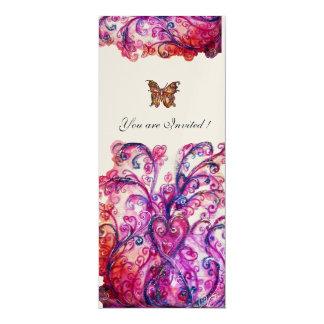 Ouro roxo cor-de-rosa vermelho brilhante dos convite personalizados