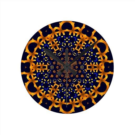 Ouro snowflake.jpg do Fractal Relógios De Pendurar
