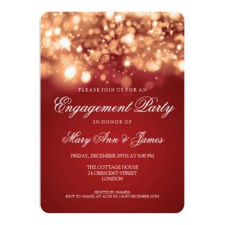 Ouro Sparkling das luzes da festa de noivado do Convite Personalizado