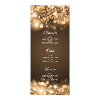 Ouro Sparkling das luzes do menu elegante do Convites Personalizado