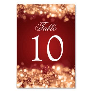 Ouro Sparkling das luzes do número da mesa