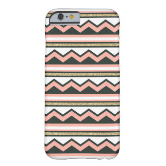 Ouro ultra chique & caso coral do iPhone 6 de Capa Barely There Para iPhone 6